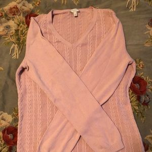 Pink Talbots sweater